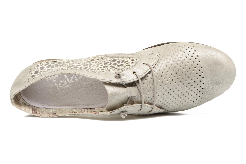 Chaussures à lacets Rieker Ruben 51928 Blanc vue gauche