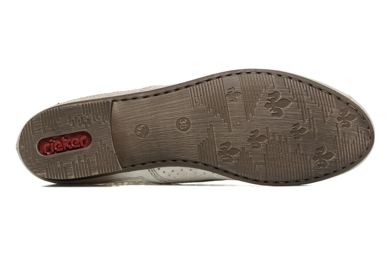 Chaussures à lacets Rieker Ruben 51928 Blanc vue haut