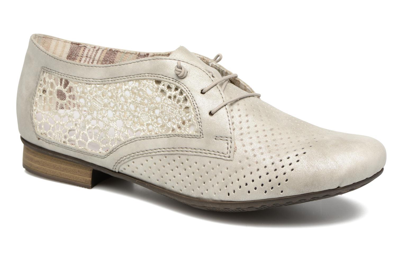 Chaussures à lacets Rieker Ruben 51928 Blanc vue détail/paire