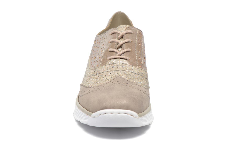 Baskets Rieker Uys 53726 Gris vue portées chaussures