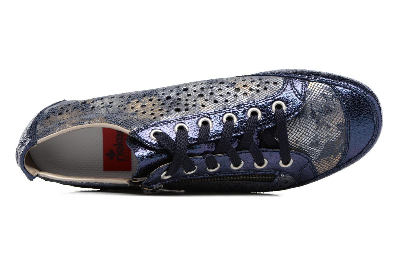Sneakers Rieker Wim 57715 Azzurro immagine sinistra