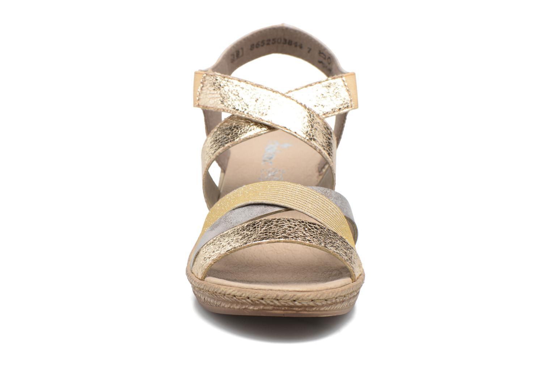 Sandales et nu-pieds Rieker Jara 62438 Or et bronze vue portées chaussures