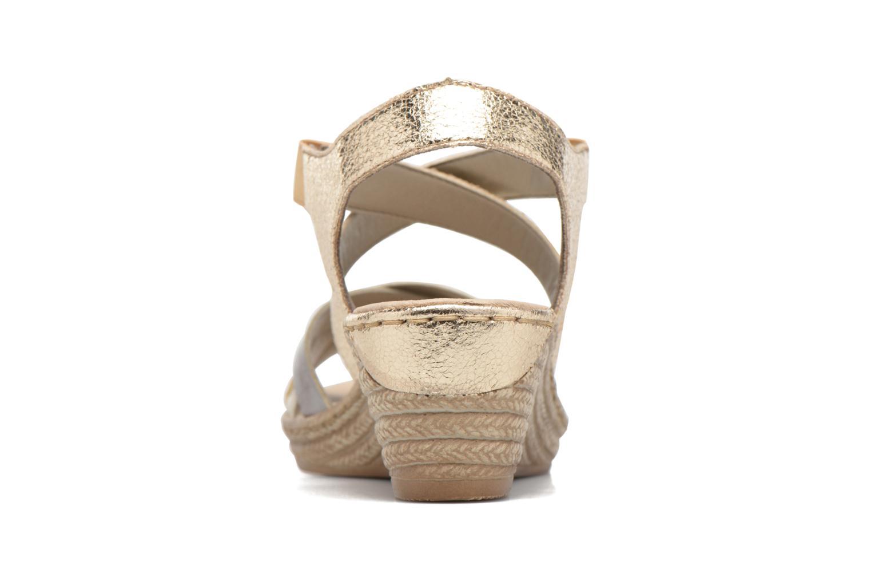 Sandales et nu-pieds Rieker Jara 62438 Or et bronze vue droite