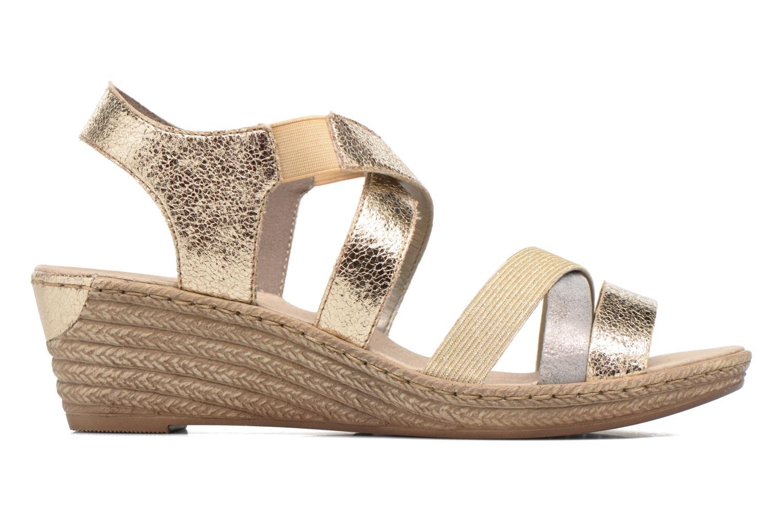 Sandales et nu-pieds Rieker Jara 62438 Or et bronze vue derrière