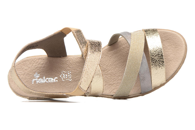 Sandales et nu-pieds Rieker Jara 62438 Or et bronze vue gauche