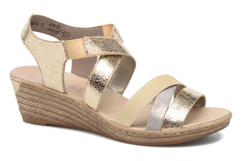 Sandales et nu-pieds Rieker Jara 62438 Or et bronze vue détail/paire