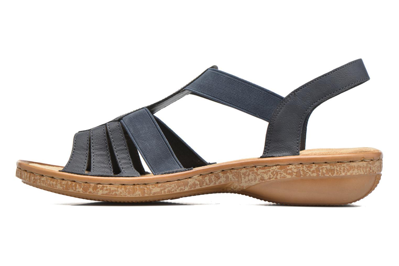 Sandaler Rieker gonda 62821 Blå se forfra