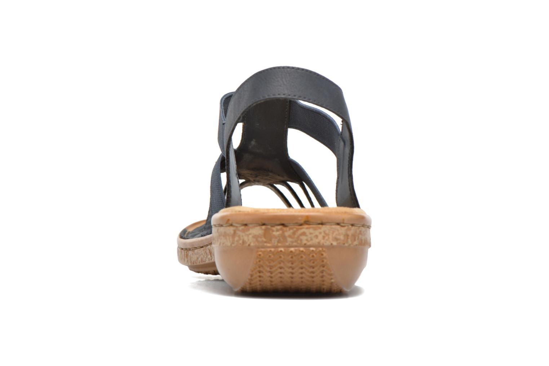 Sandaler Rieker gonda 62821 Blå Se fra højre