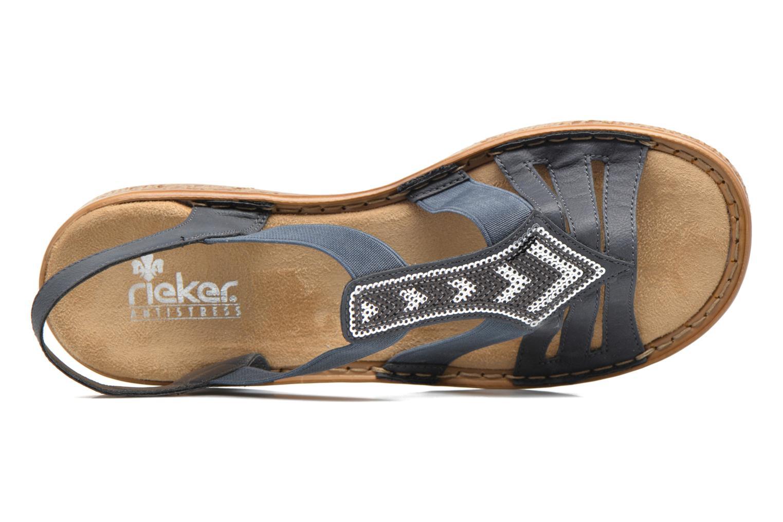 Sandaler Rieker gonda 62821 Blå se fra venstre