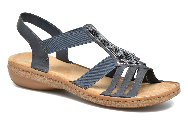 Sandaler Rieker gonda 62821 Blå detaljeret billede af skoene