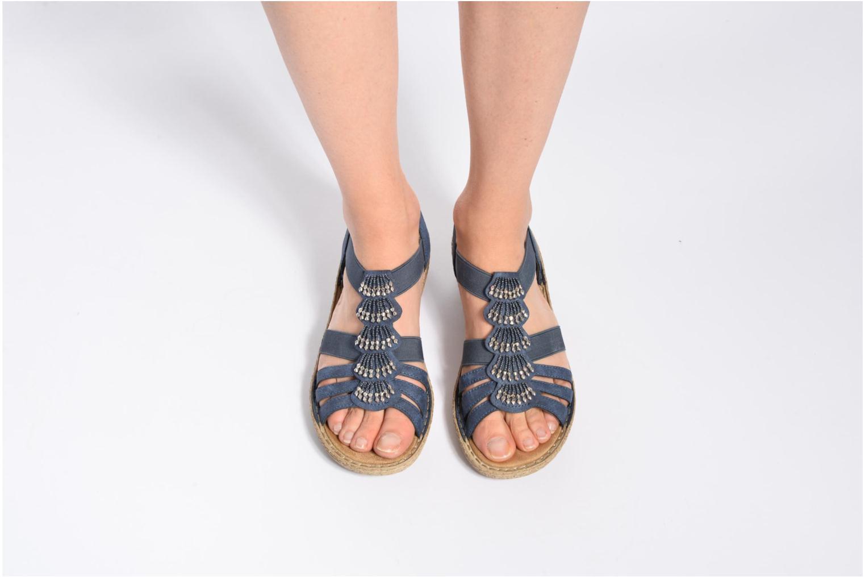 Sandales et nu-pieds Rieker Nora 65869 Bleu vue bas / vue portée sac