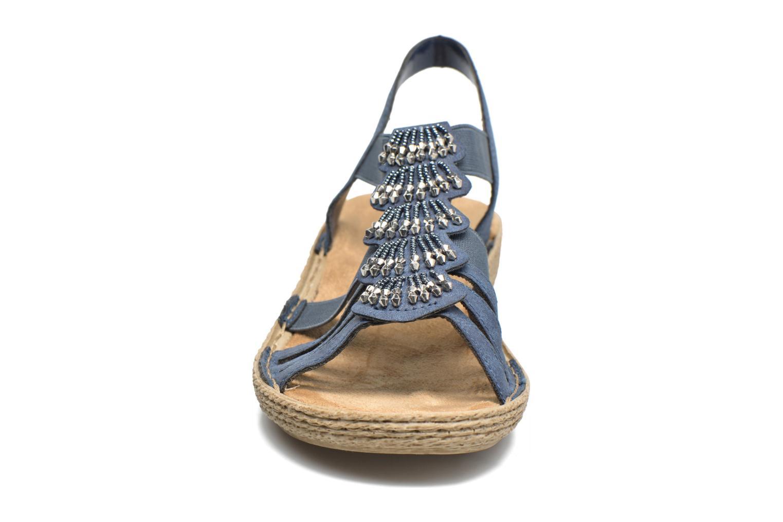 Sandales et nu-pieds Rieker Nora 65869 Bleu vue portées chaussures