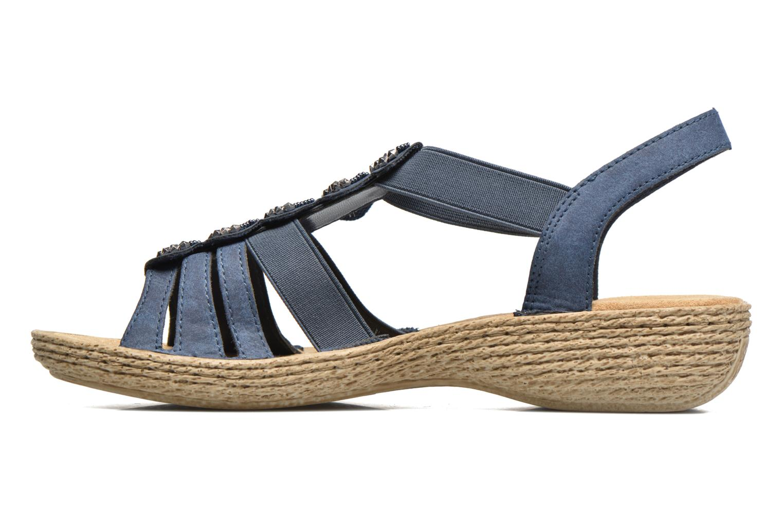Sandales et nu-pieds Rieker Nora 65869 Bleu vue face