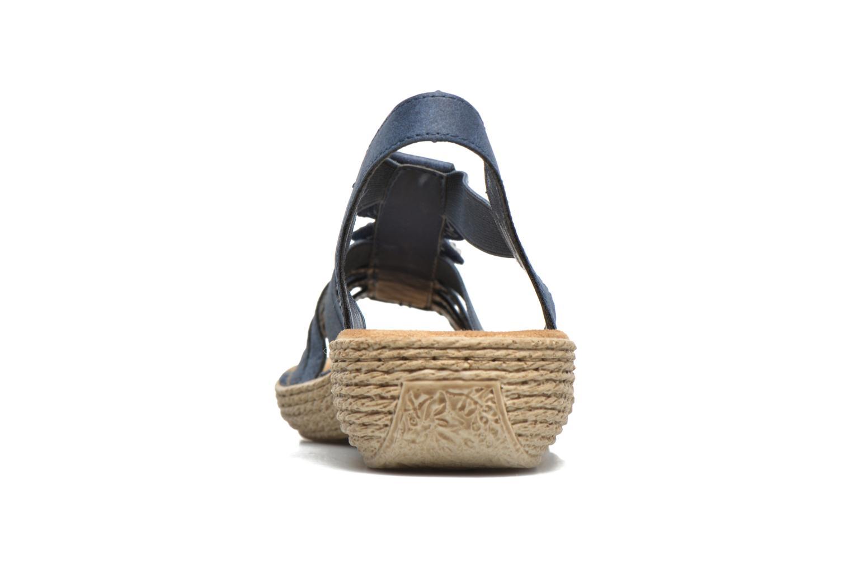 Sandales et nu-pieds Rieker Nora 65869 Bleu vue droite