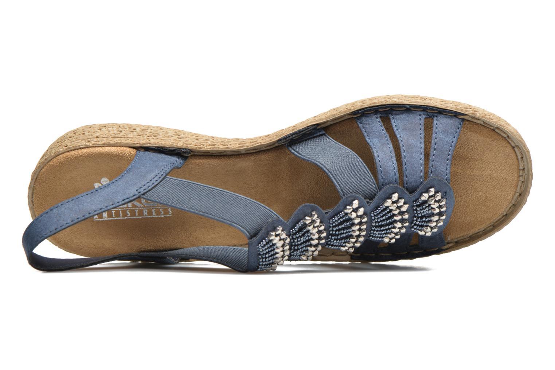 Sandales et nu-pieds Rieker Nora 65869 Bleu vue gauche