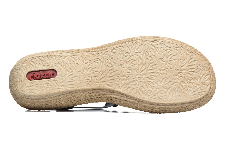 Sandales et nu-pieds Rieker Nora 65869 Bleu vue haut