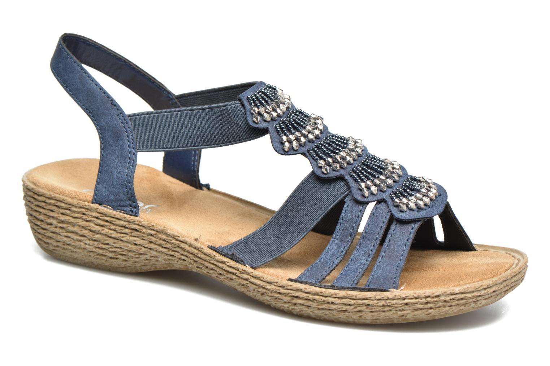 Sandales et nu-pieds Rieker Nora 65869 Bleu vue détail/paire