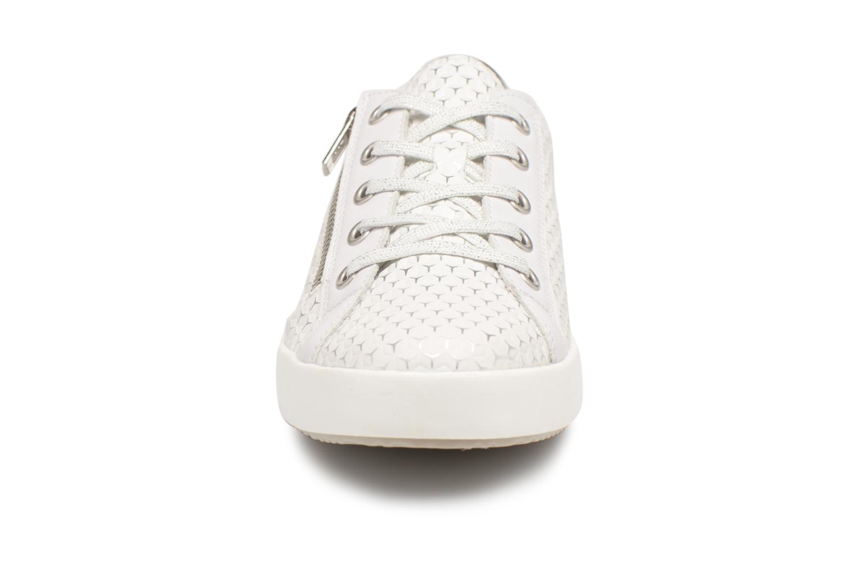 Baskets Rieker Staf K5201 Blanc vue portées chaussures