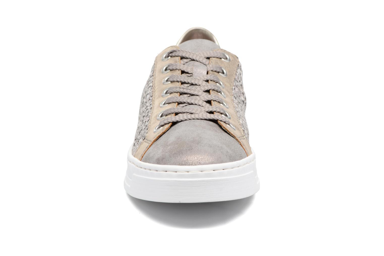 Baskets Rieker Borgio 8514 Gris vue portées chaussures