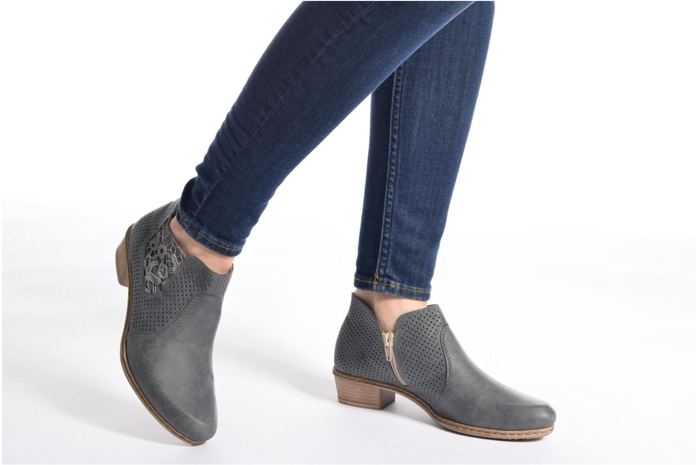 Bottines et boots Rieker Marla 0757 Bleu vue bas / vue portée sac