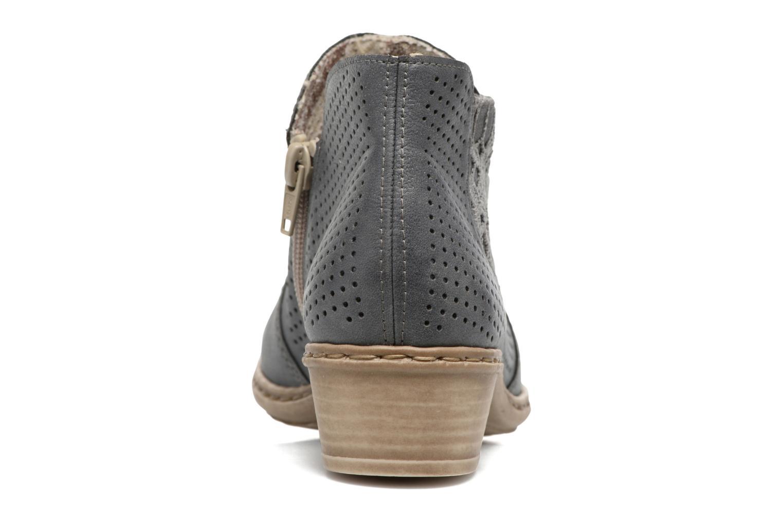 Bottines et boots Rieker Marla 0757 Bleu vue droite