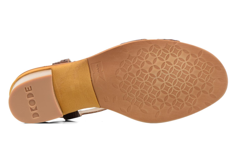 Sandales et nu-pieds Dkode Grazia Marron vue haut