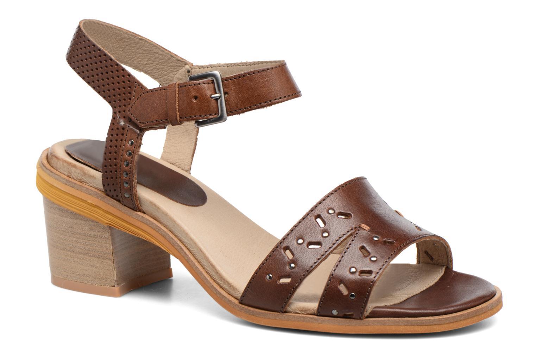Sandales et nu-pieds Dkode Grazia Marron vue détail/paire