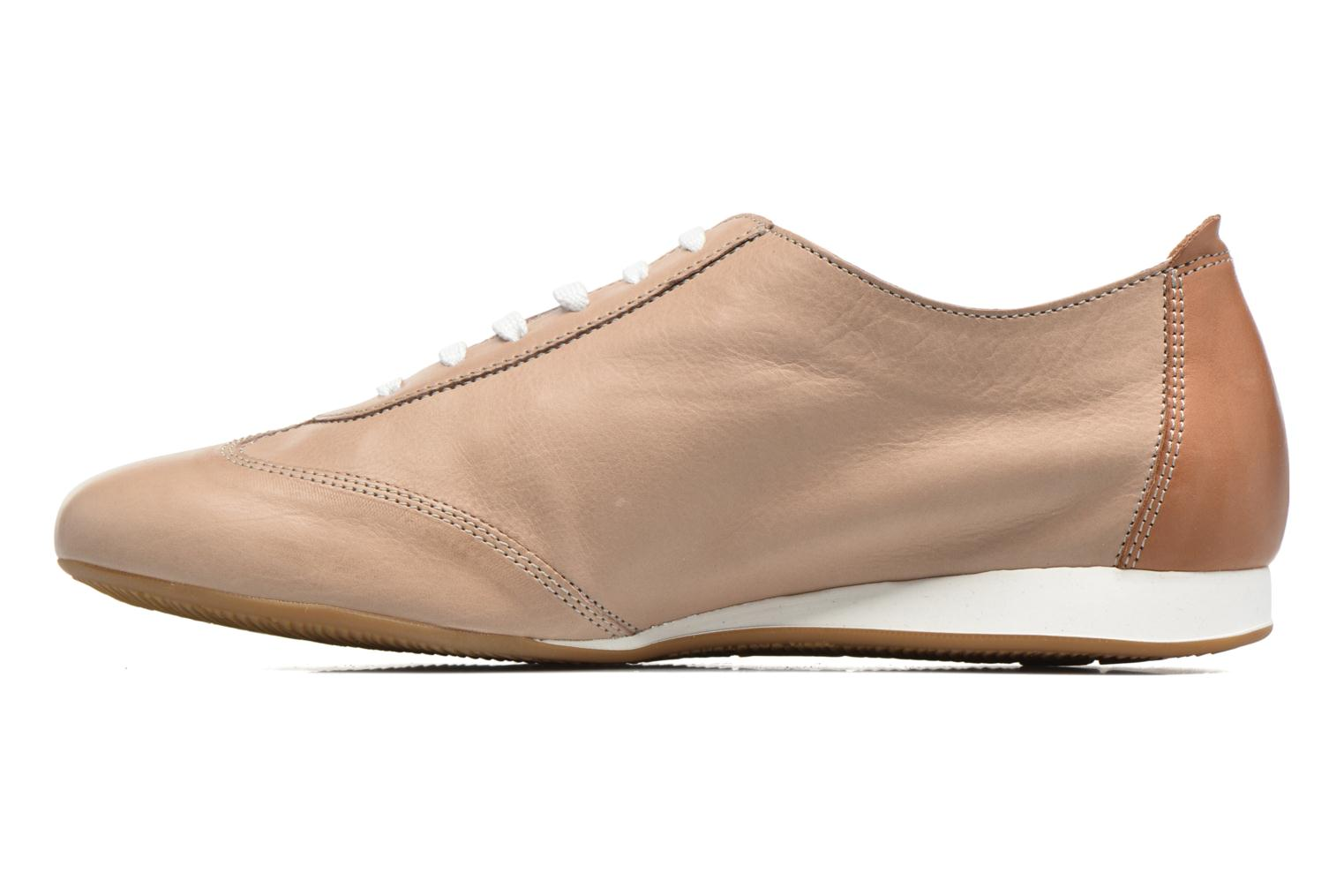 Chaussures à lacets Mephisto Becky Beige vue face