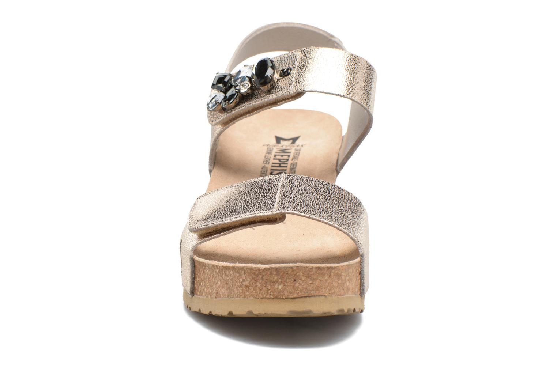 Sandales et nu-pieds Mephisto Lottie Or et bronze vue portées chaussures