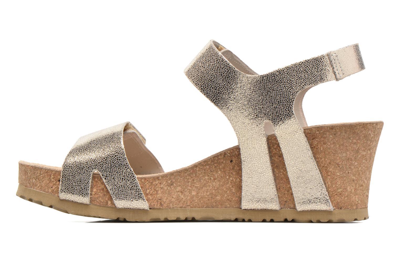 Sandales et nu-pieds Mephisto Lottie Or et bronze vue face