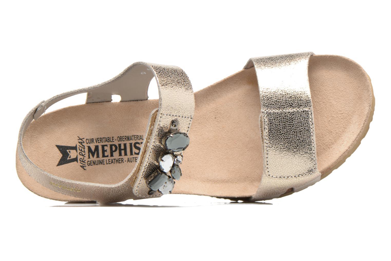Sandales et nu-pieds Mephisto Lottie Or et bronze vue gauche