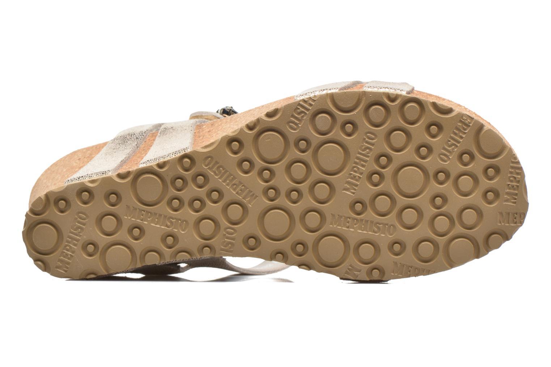 Sandales et nu-pieds Mephisto Lottie Or et bronze vue haut