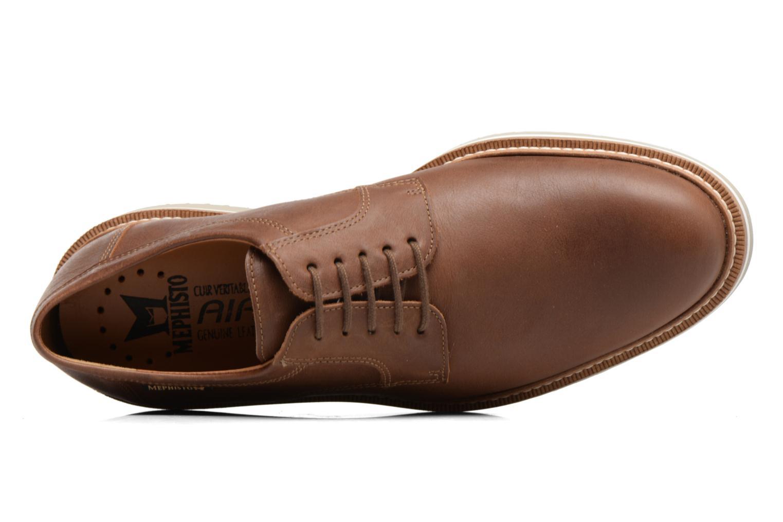 Chaussures à lacets Mephisto Enzo Marron vue gauche