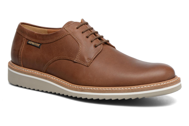 Chaussures à lacets Mephisto Enzo Marron vue détail/paire