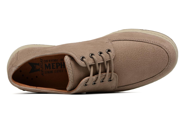 Zapatos con cordones Mephisto Justin Beige vista lateral izquierda