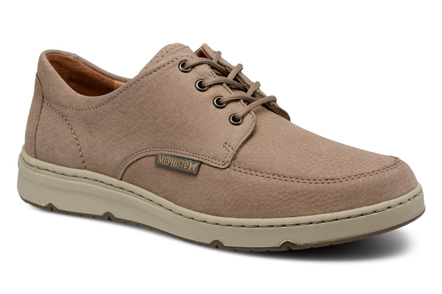 Lace-up shoes Mephisto Justin Beige detailed view/ Pair view