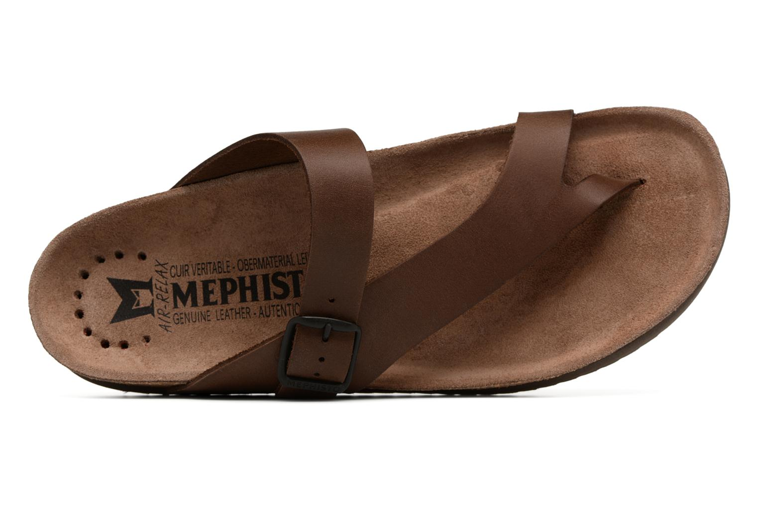 Flip flops Mephisto Niels Brown view from the left