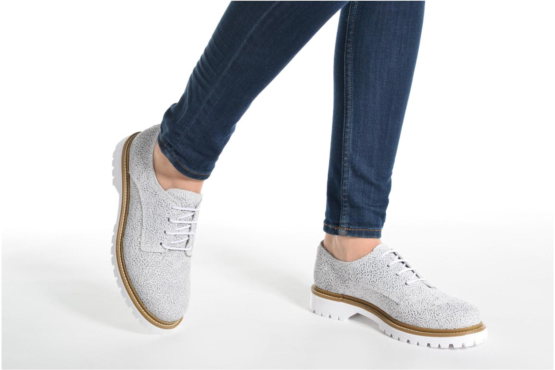 Chaussures à lacets Bronx Brifka-Chun Blanc vue bas / vue portée sac