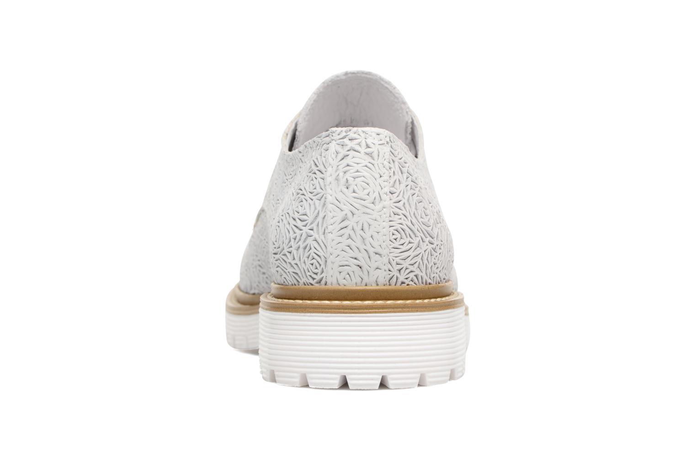 Zapatos con cordones Bronx Brifka-Chun Blanco vista lateral derecha