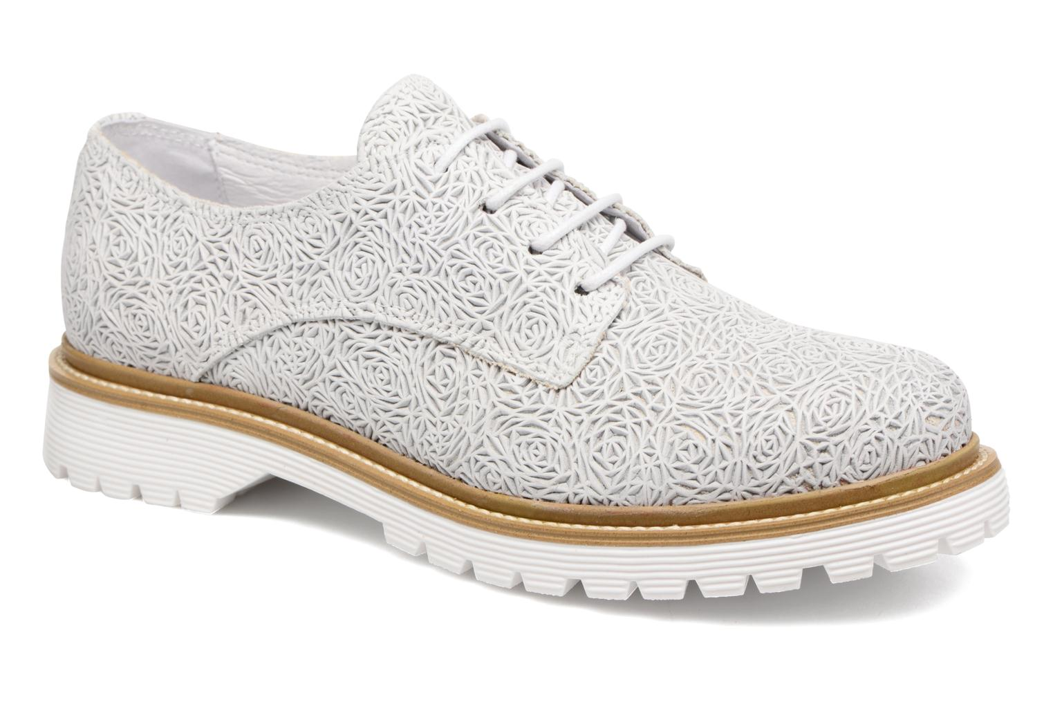 Lace-up shoes Bronx Brifka-Chun White detailed view/ Pair view