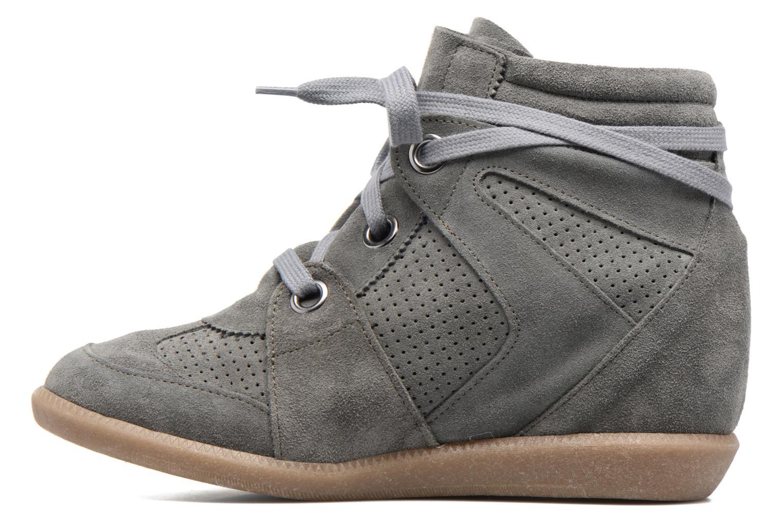 Sneaker Bronx Braffx grau ansicht von vorne