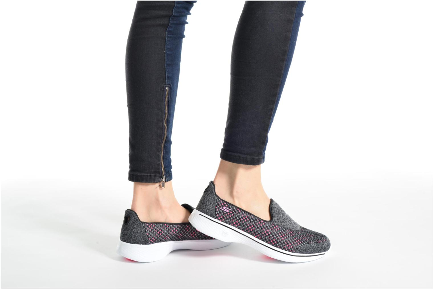 Sport shoes Skechers GO Walk 4 Kindle Black view from underneath / model view