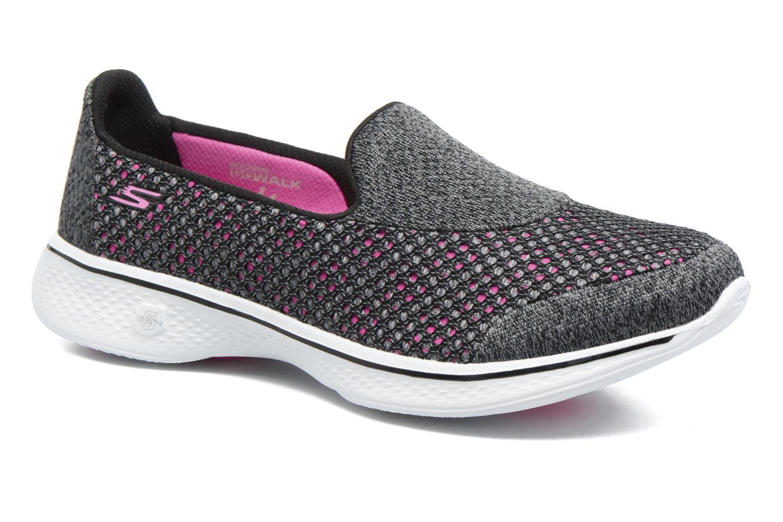 Sportssko Skechers GO Walk 4 Kindle Sort detaljeret billede af skoene