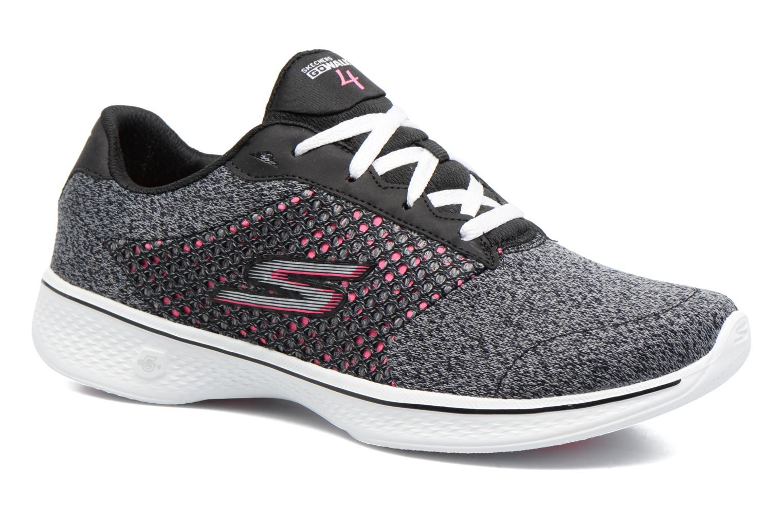 Sneakers Skechers GO Walk 4 Exceed Sort detaljeret billede af skoene