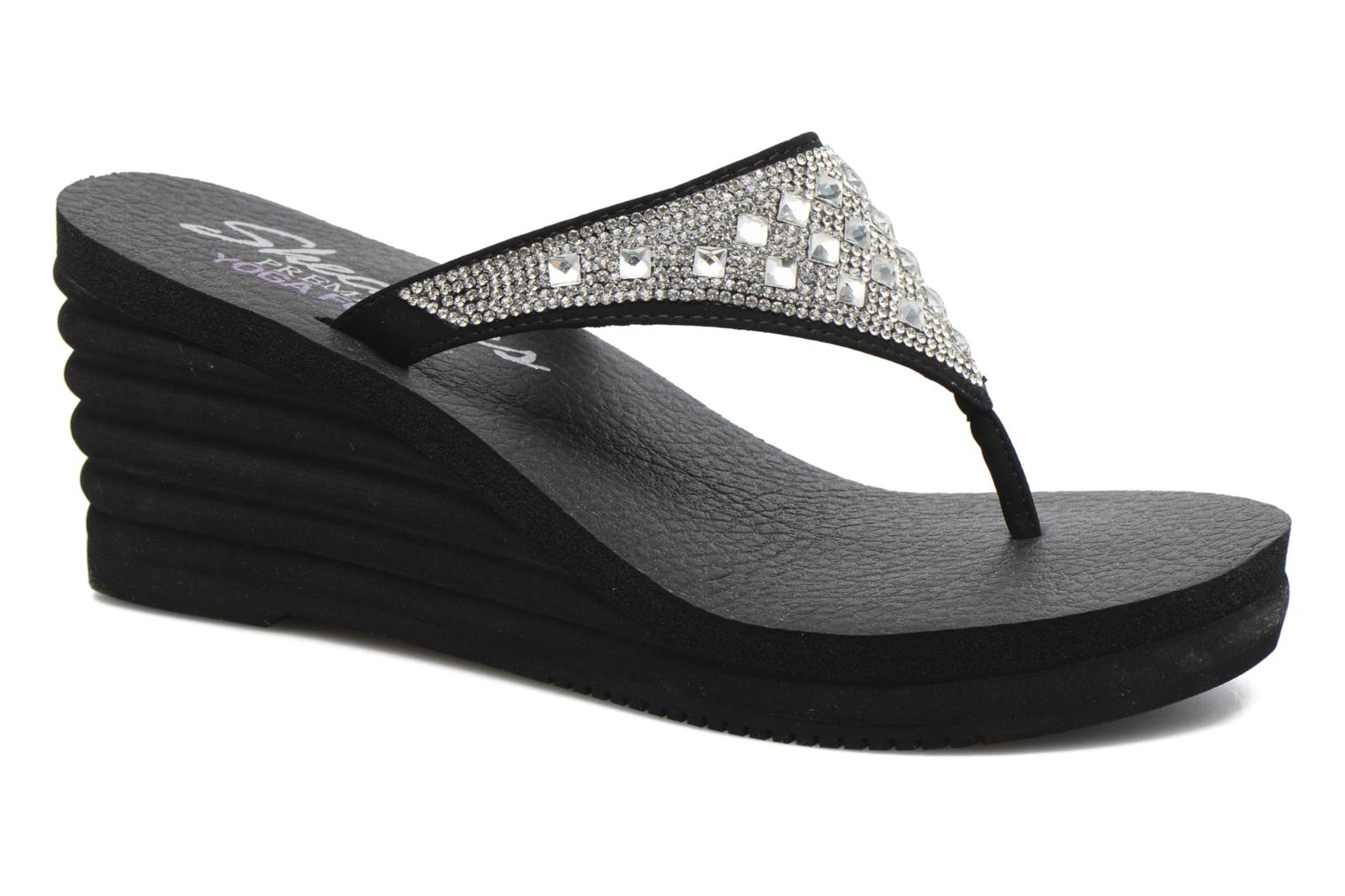 Chanclas Skechers Bohemian Arrow Negro vista de detalle / par