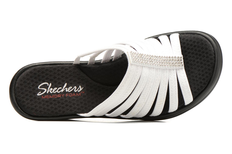 Zuecos Skechers Rumblers Hotshot Blanco vista lateral izquierda