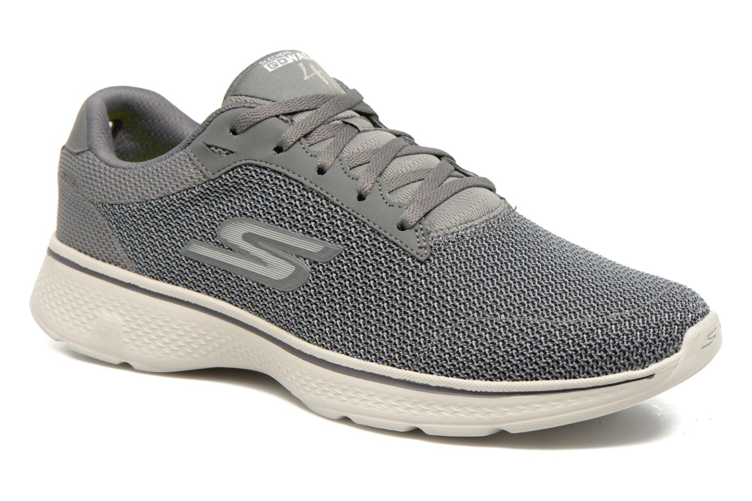 Sport shoes Skechers Go Walk 4 H Grey detailed view/ Pair view