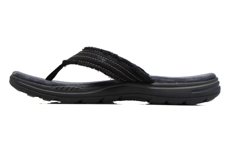 Zehensandalen Skechers Evented Arven schwarz ansicht von vorne