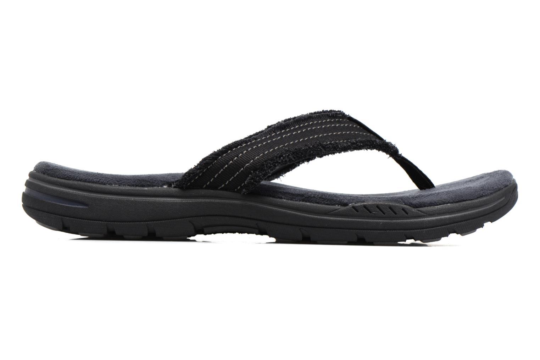 Slippers Skechers Evented Arven Zwart achterkant