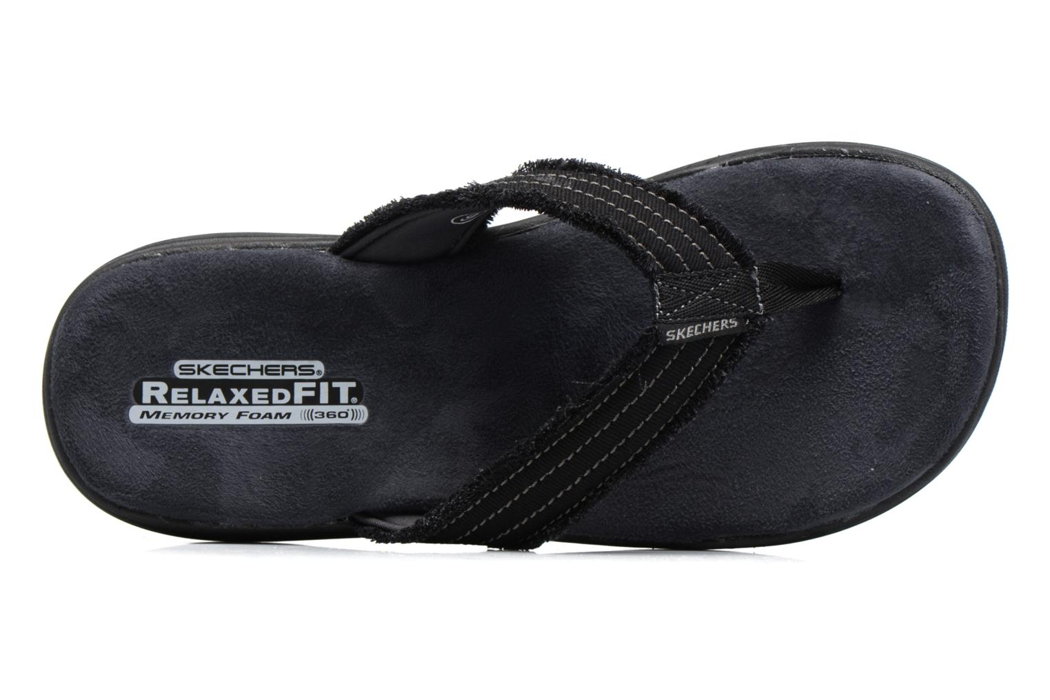 Flip flops Skechers Evented Arven Black view from the left